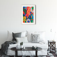 Joyful Day Art Print White Frame | Bombinate