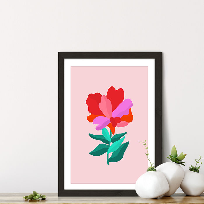 You're a Flower Art Print Black Frame | Bombinate