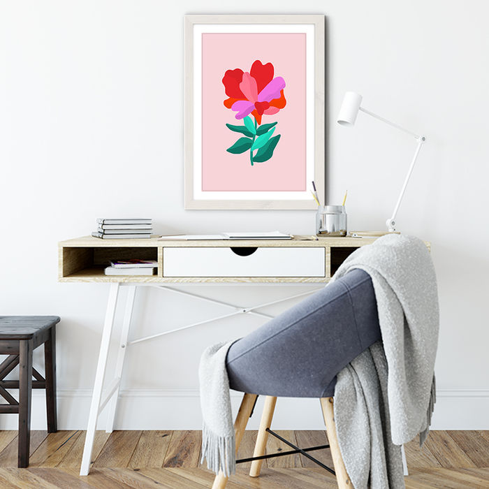 You're a Flower Art Print White Frame   Bombinate