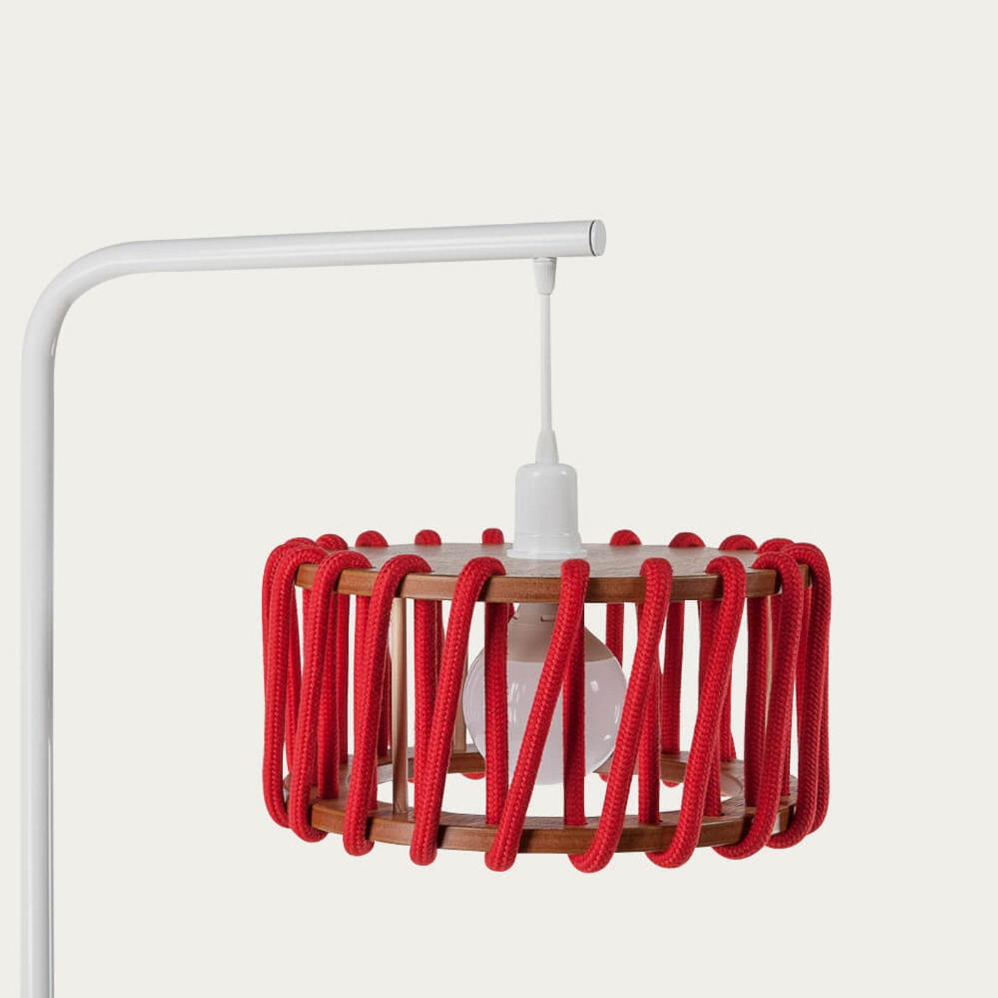 Red Macaron Floor Lamp D45   Bombinate