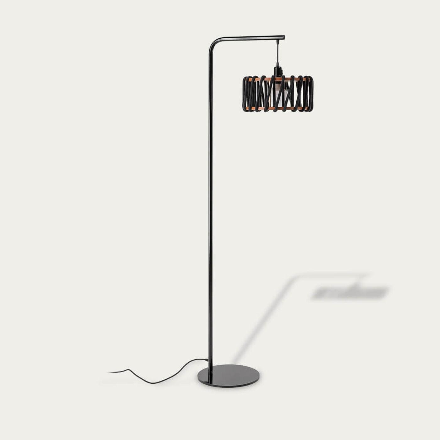 Black Macaron Floor Lamp   Bombinate