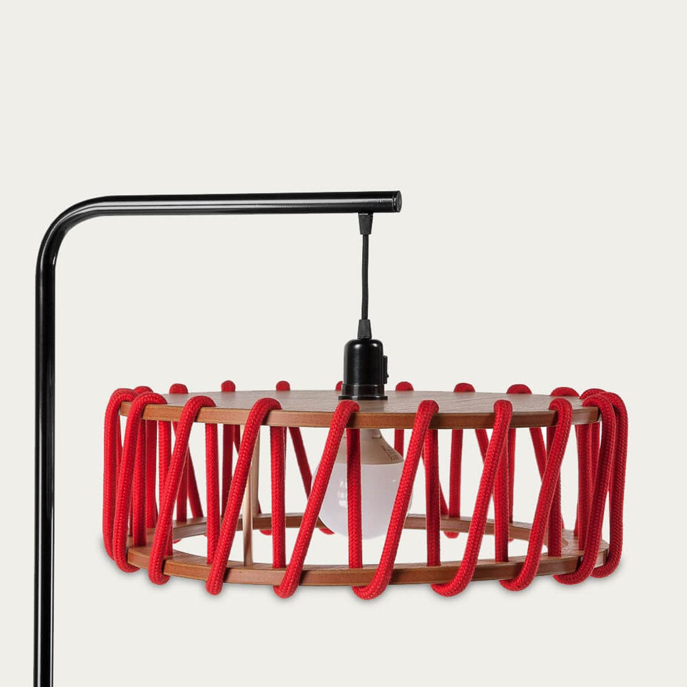 Red Macaron Floor Lamp   Bombinate