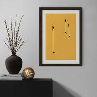 Yellow Windows Art Print Black Frame | Bombinate
