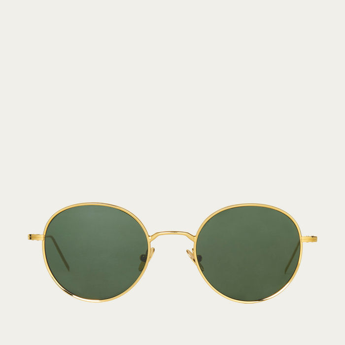 Gold / Bottle Green Vicuna Sunglasses | Bombinate