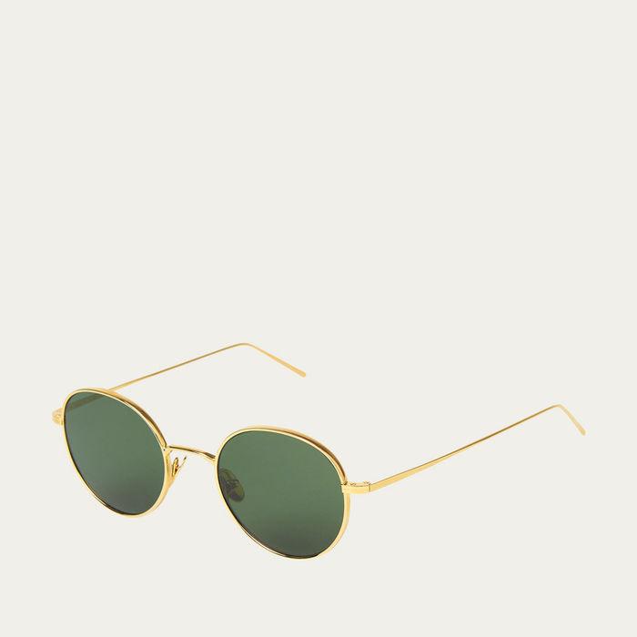 Gold / Bottle Green Ulster Sunglasses    Bombinate