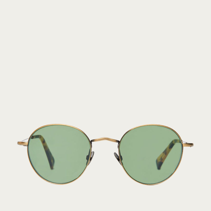 Brass / Bottle Green Vicuna Sunglasses  | Bombinate