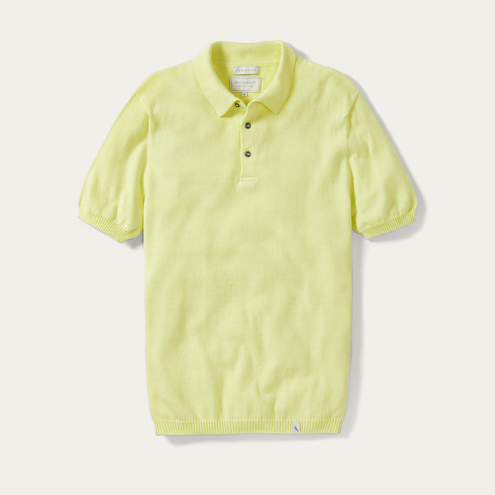 Frozen Yellow MIE Knitted Polo Shirt  | Bombinate