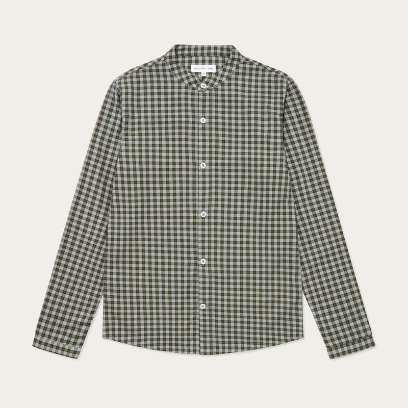 Olive Check Woven Sleep Shirt  | Bombinate