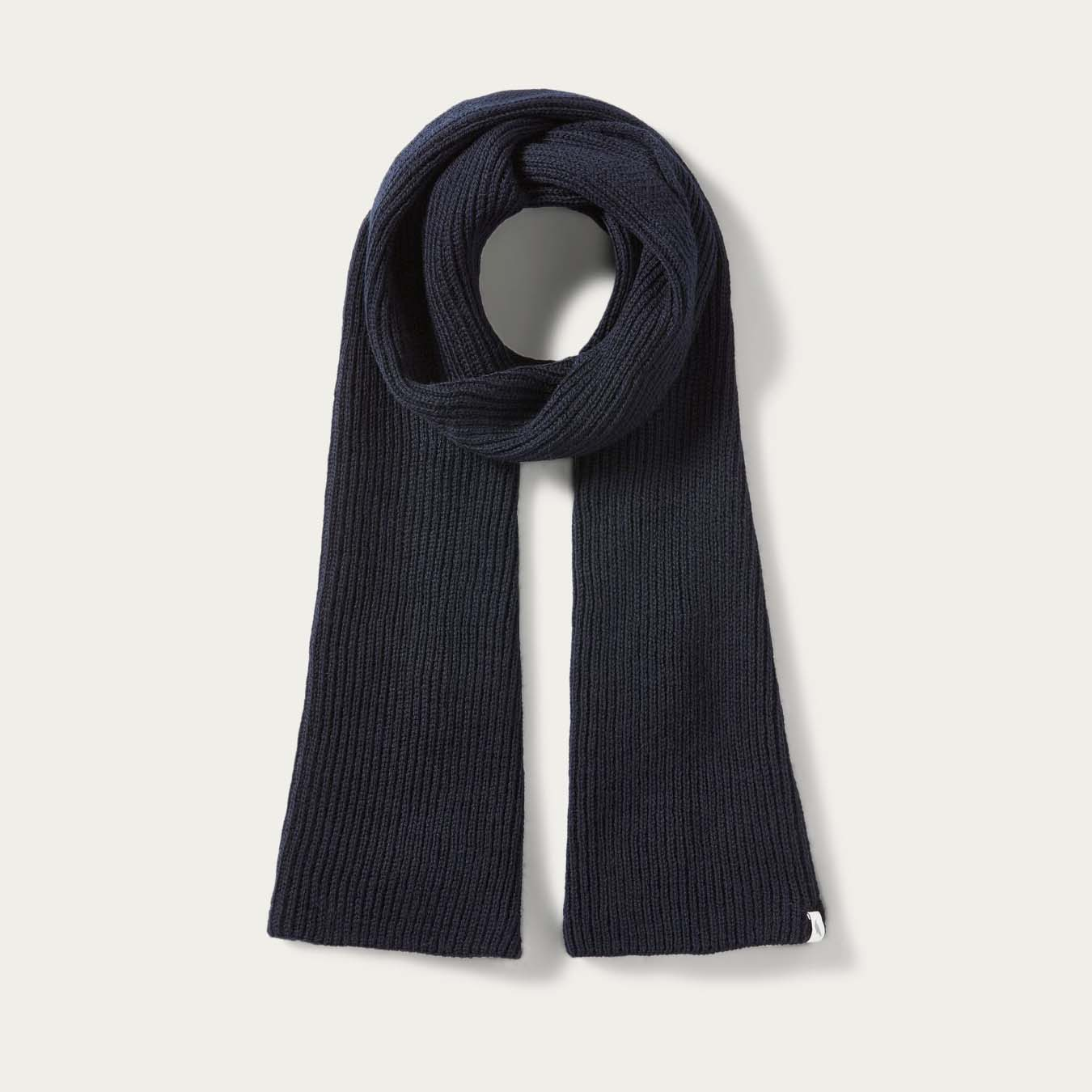 Navy Porter Ribbed Scarf | Bombinate