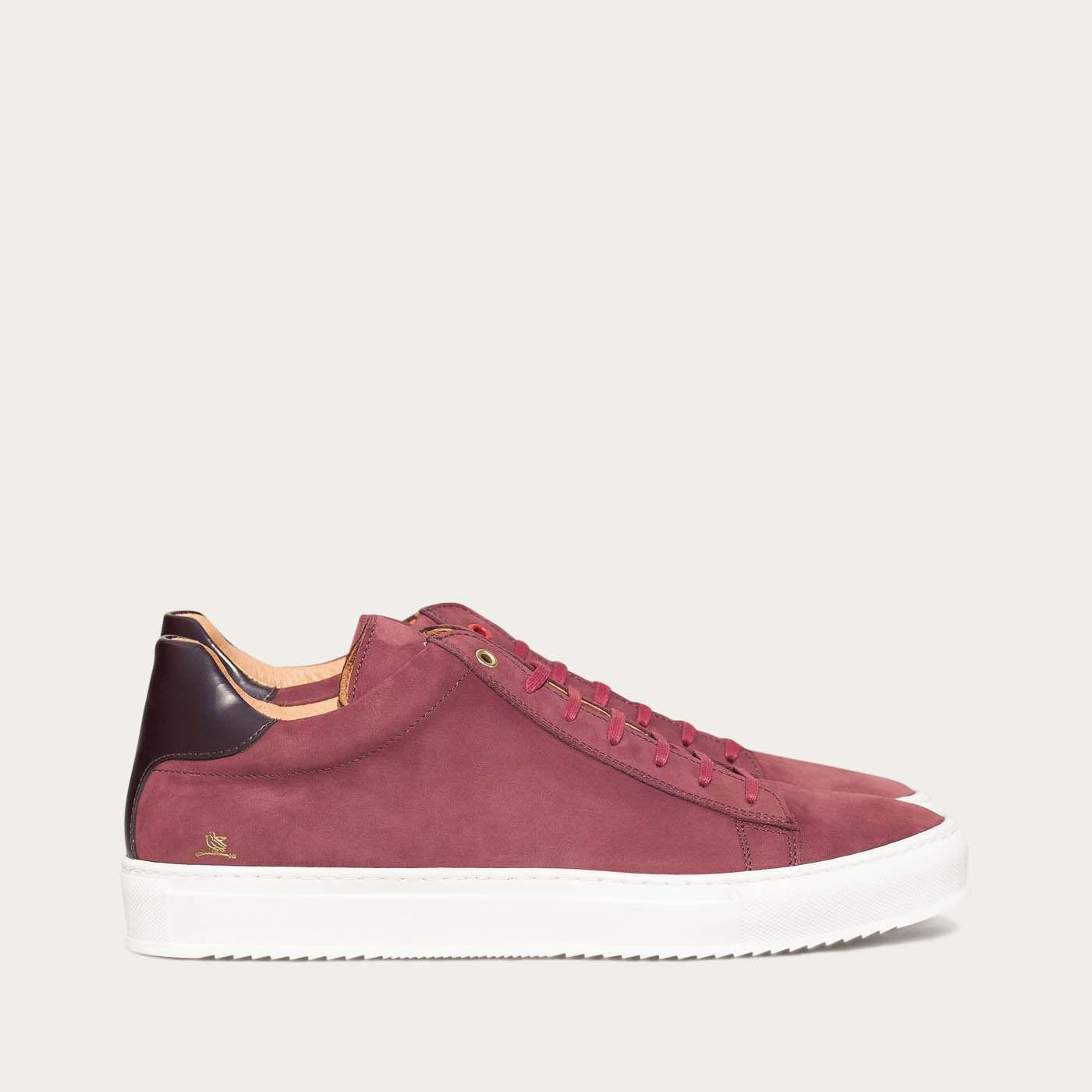 Burgundy Mid Sneakers 0