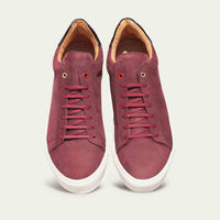 Burgundy Mid Sneakers | Bombinate