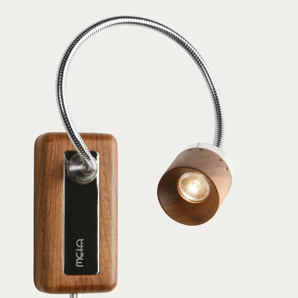Walnut Whims LED Wall Reading Lamp | Bombinate