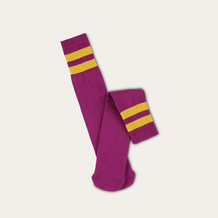 Purple / Golden Glow Unisex Tube Socks | Bombinate