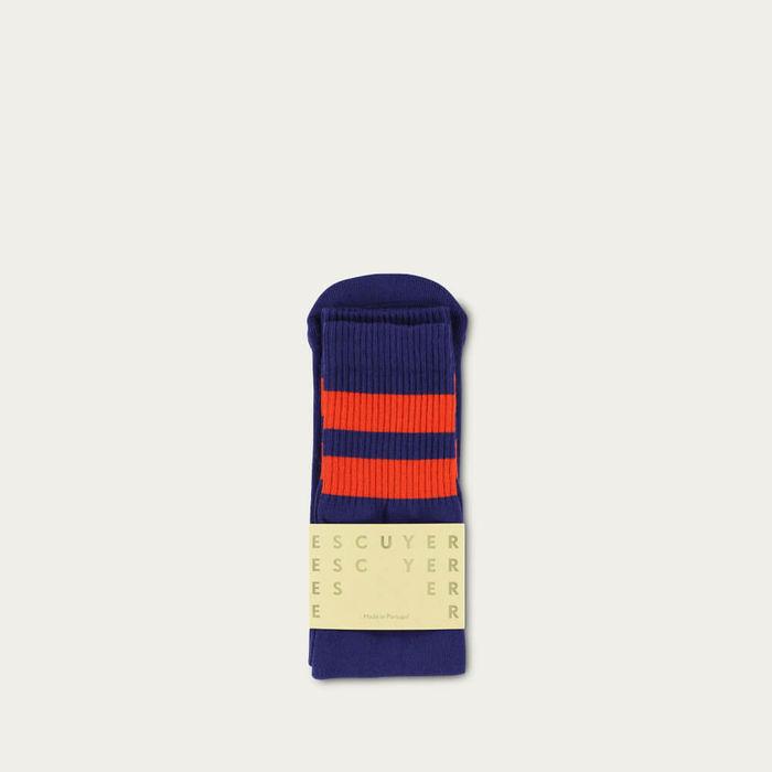 Blue Wing Teal / Gold Flame Unisex Tube Socks | Bombinate