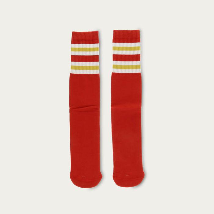 Aurora Red Unisex Tube Socks | Bombinate