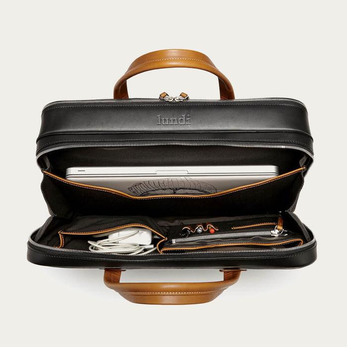 Black & Cognac 36 Hours Bag Bellecourt | Bombinate