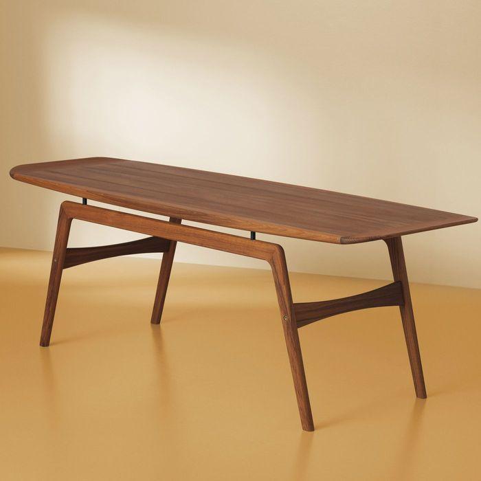 Teak Surfboard Coffee Table | Bombinate