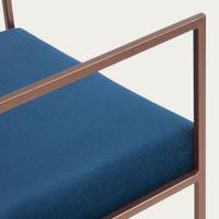 Royal Blue Cube Armchair Copper | Bombinate