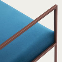 Ocean Blue Cube Armchair Copper | Bombinate