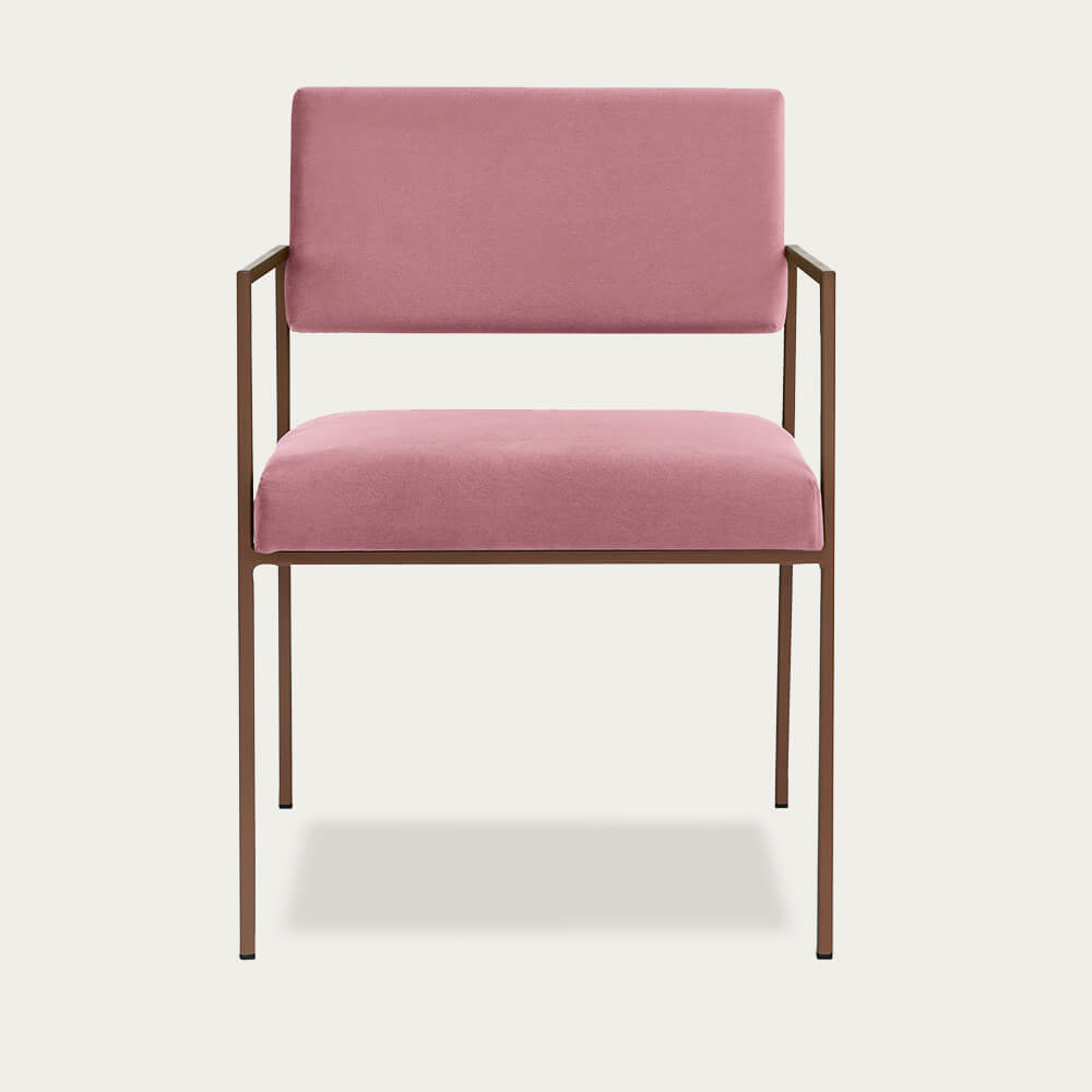 Rosa Cube Armchair Copper | Bombinate