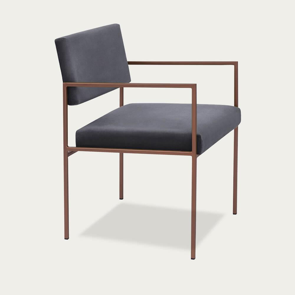 Grey Cube Armchair Copper | Bombinate