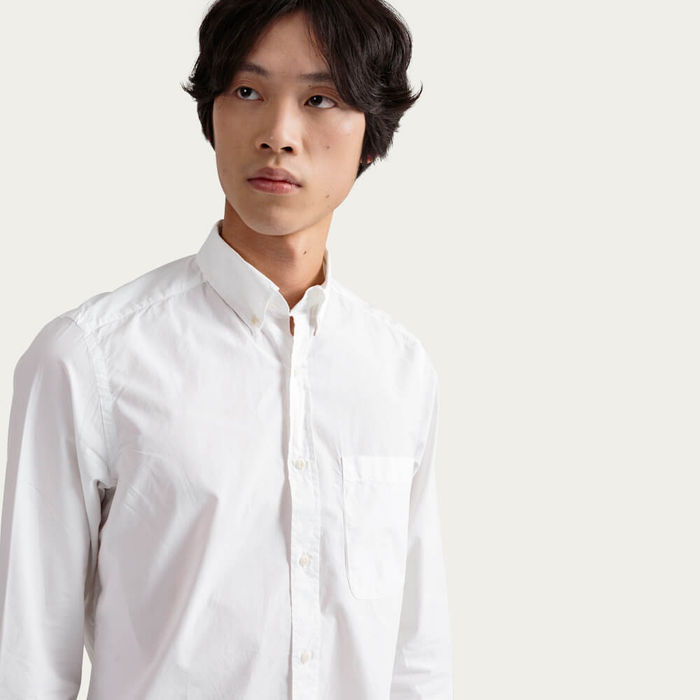 White Button-Down Pocket Shirt | Bombinate