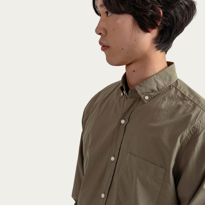 Olive Button-Down Pocket Shirt | Bombinate