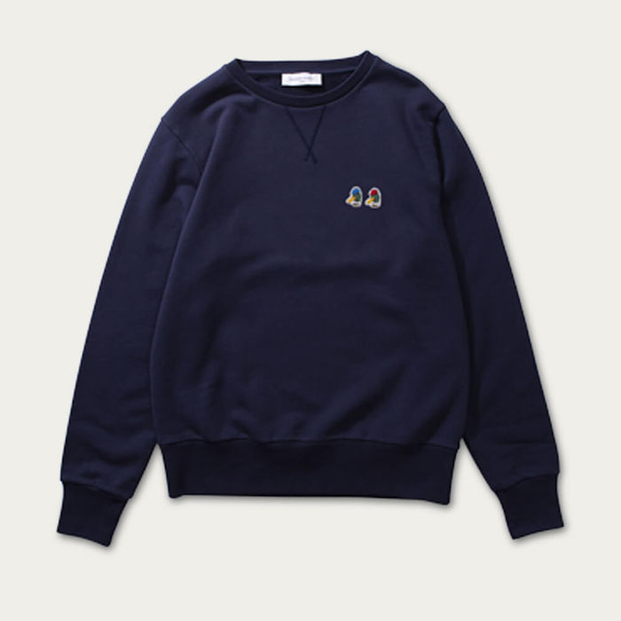 Navy Duck Head Cotton Sweatshirt | Bombinate