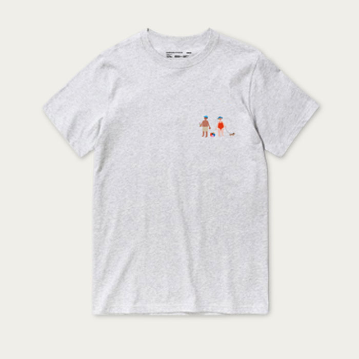 Grey Melange Short Sleeve Grandmother T-shirt   Bombinate