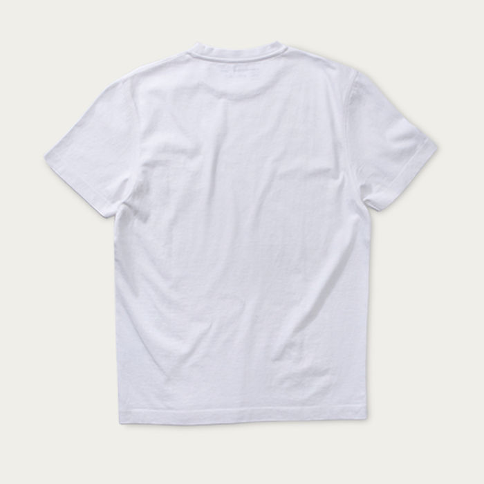 White Short Sleeve Hugo T-shirt | Bombinate