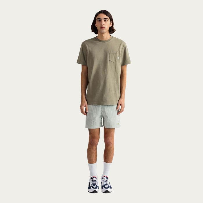 Olive Short Sleeve Hugo T-shirt | Bombinate