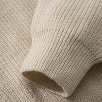 Beige Oversize Cotton Sweater | Bombinate