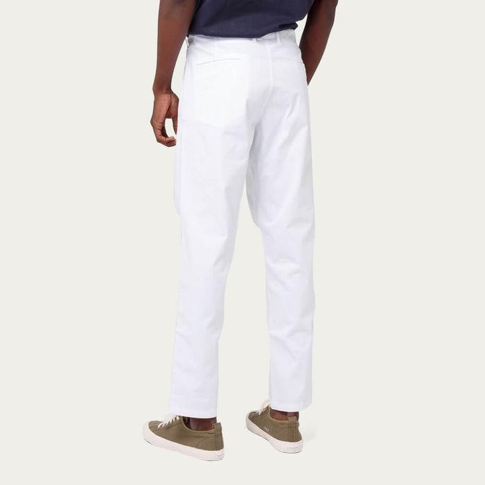 White Cotton Twill Owen Pants | Bombinate