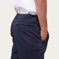 Navy Cotton Twill Owen Pants | Bombinate