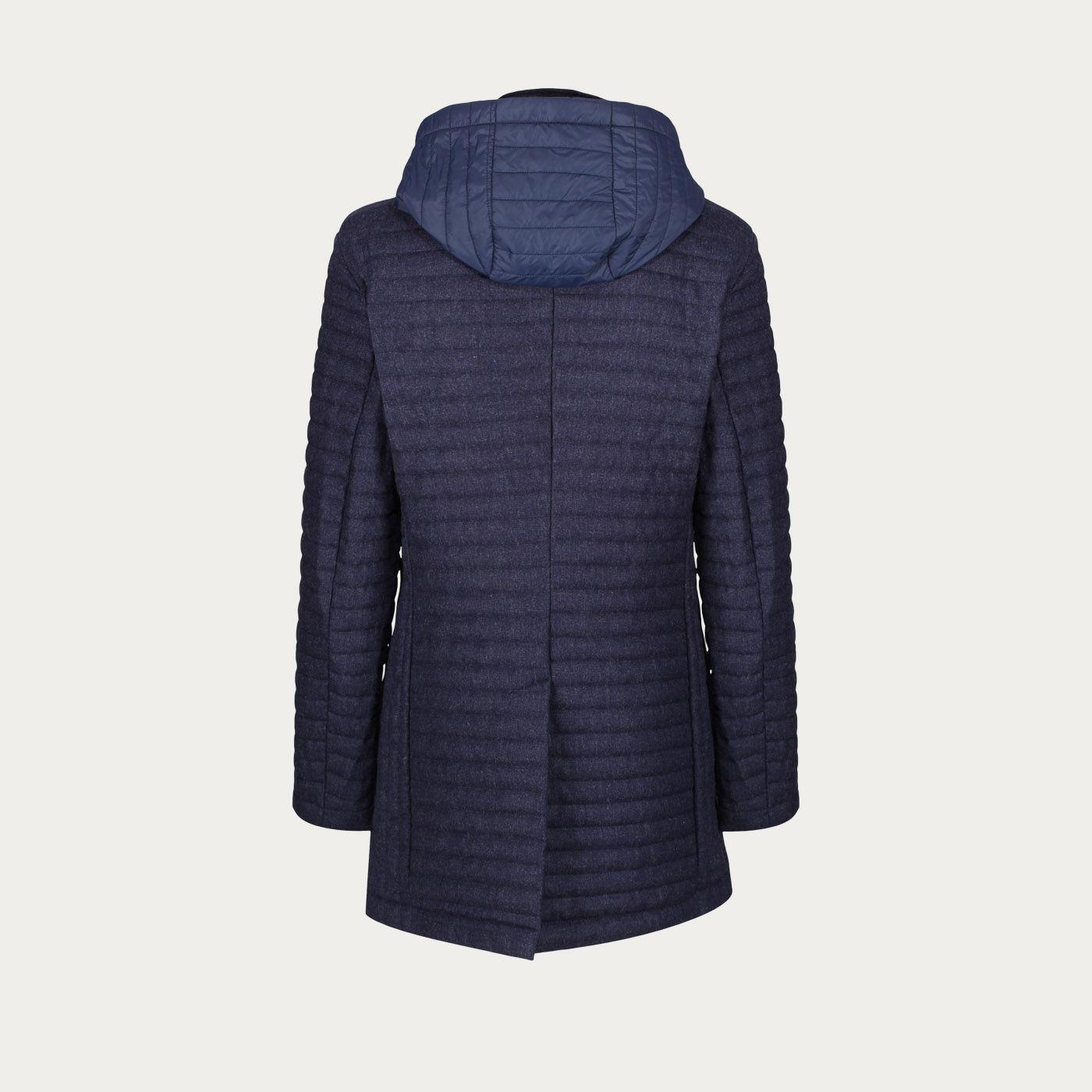Navy Wool Q16 Quilt Jacket   Bombinate