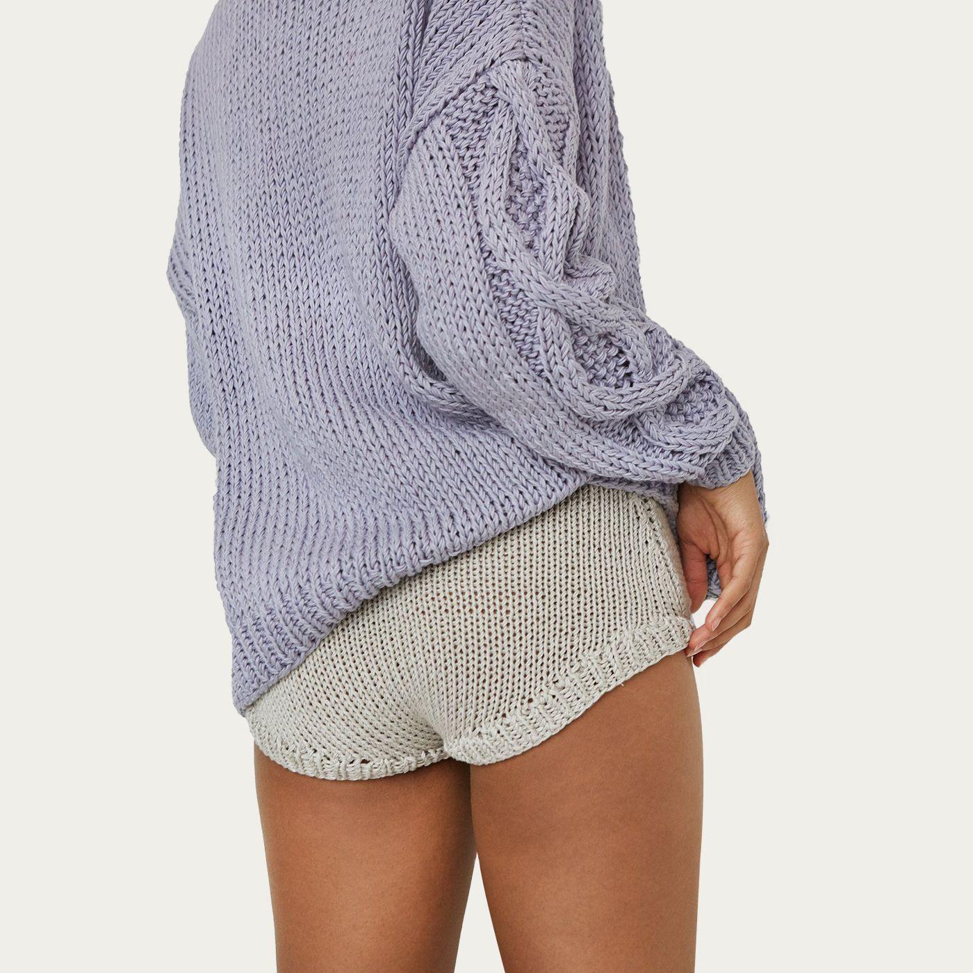 Light Grey Knit Panties   Bombinate