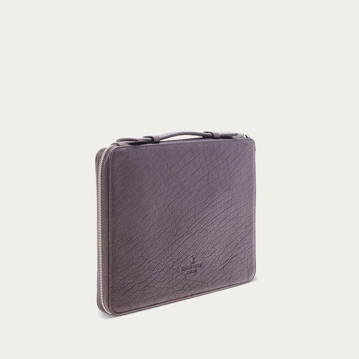 Mocha Bison Leather Notebook Case | Bombinate