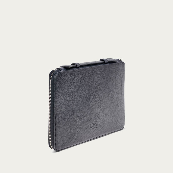 Black Bison Leather Notebook Case | Bombinate