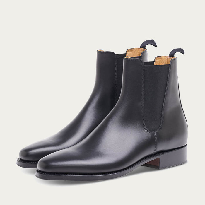 Black Bookbinder Calf Leather Chelsea Boot | Bombinate