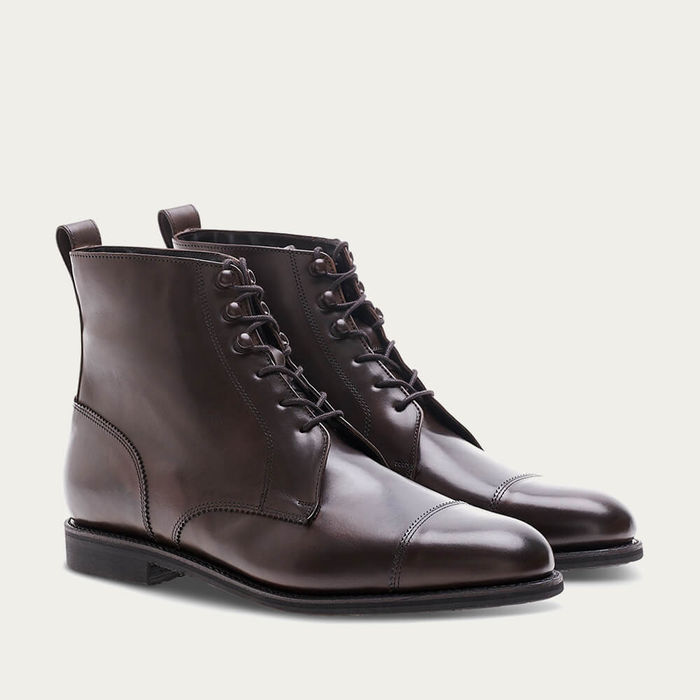 Mocca Patina Calf Hunting Ankle Boot | Bombinate