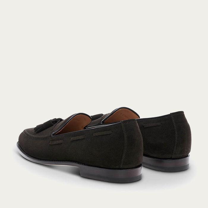 Mocha Tassel  Suede Leather Loafer | Bombinate