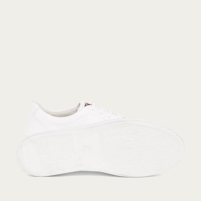 White Golf Grain Leather Tennis | Bombinate
