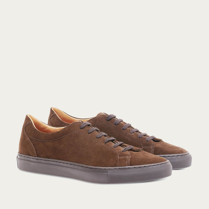 Hunting Green Suede Leather Tennis | Bombinate