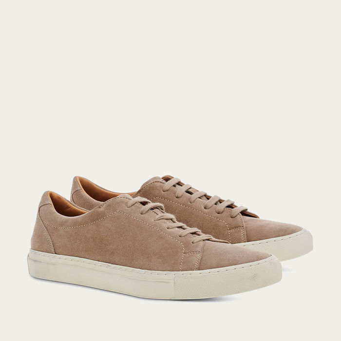 Caramel Suede Leather Tennis | Bombinate