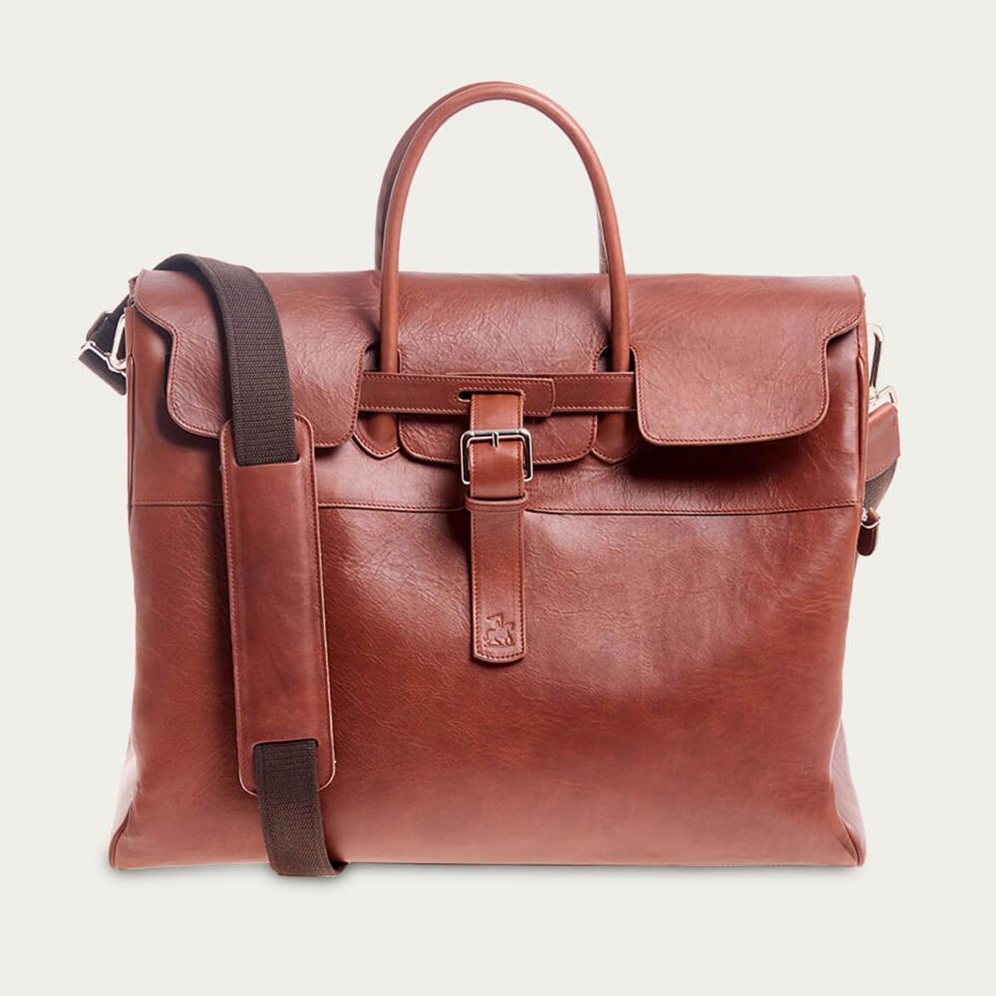 Brown Horse Leather Weekender | Bombinate