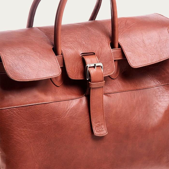 Brown Horse Leather Weekender   Bombinate