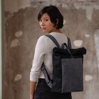Black Leather Front Backpack  | Bombinate