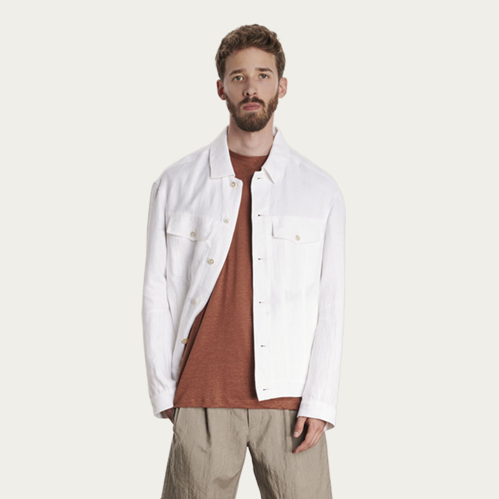 White Linen Jacket | Bombinate