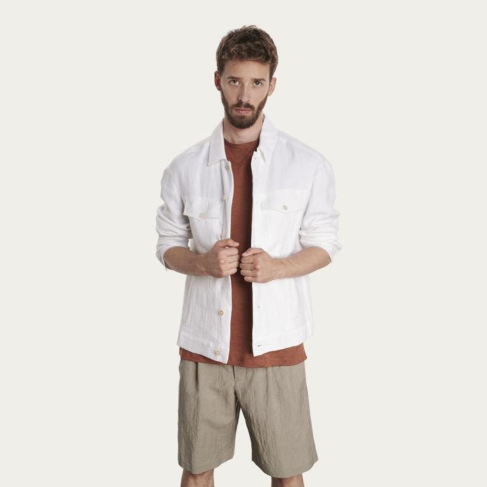 White Linen Jacket   Bombinate