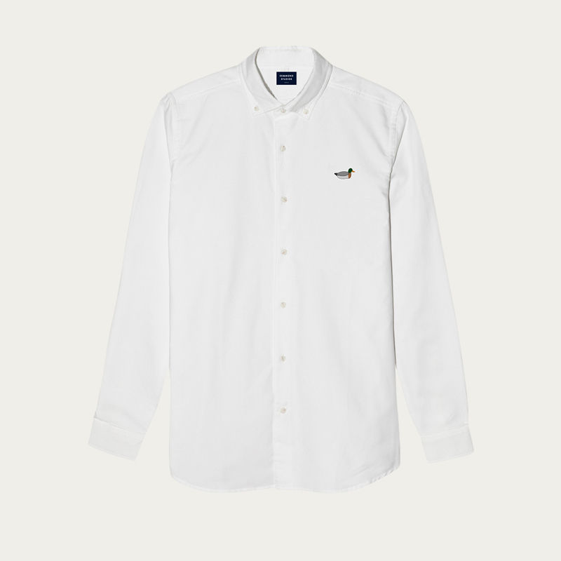 The Plain White Duck Button Down Shirt | Bombinate